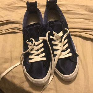 Zara blue fringed sneakers